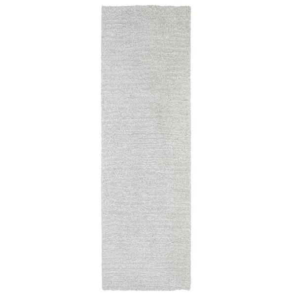 Fluffy Silver Shag Rug (2'3 x 8')