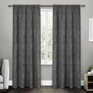 ATI Home Elle Blackout Floral Jacquard Chenille Curtain Panel (Pair)