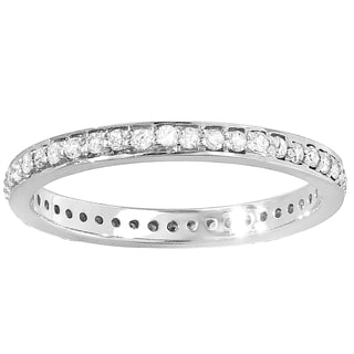 14k White Gold 1/2ct TDW White Diamond Eternity Stackable Ring (H-I, I1-I2)