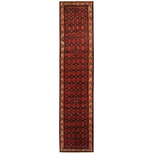 Handmade Herat Oriental Persian Hamadan Wool Runner (Iran) - 2'10 x 12'4