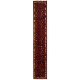 Herat Oriental Persian Hand-knotted Hamadan Wool Runner (2'3 x 12'11)