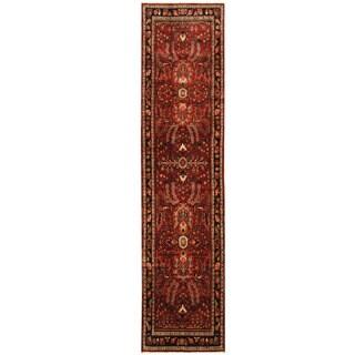 Herat Oriental Persian Hand-knotted Hamadan Wool Runner (2'11 x 12'5)