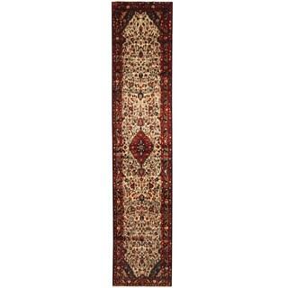 Herat Oriental Persian Hand-knotted Hamadan Wool Runner (2'9 x 12'11)
