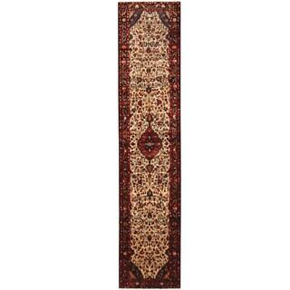 Herat Oriental Persian Hand-knotted Hamadan Wool Runner (2'8 x 13')