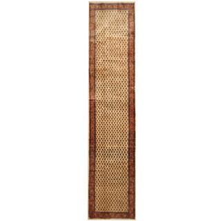 Herat Oriental Persian Hand-knotted Hamadan Wool Runner (2'8 x 12'3)