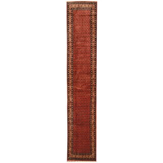 Herat Oriental Persian Hand-knotted Hamadan Wool Runner (2'6 x 13'10)