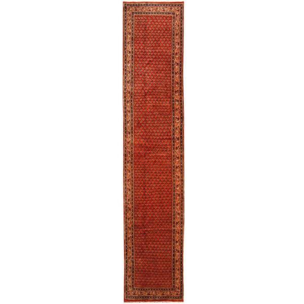 Herat Oriental Persian Hand-knotted Hamadan Wool Runner (2'8 x 13'3)