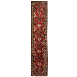 Herat Oriental Persian Hand-knotted Hamadan Wool Runner (2'9 x 13')