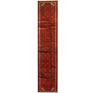 Herat Oriental Persian Hand-knotted Hamadan Wool Runner (2'9 x 12'6)