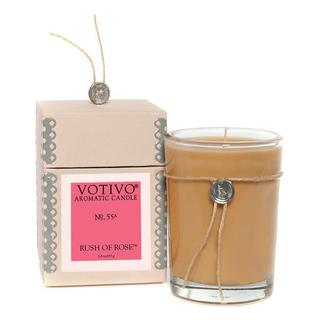 Votivo Aromatic Scented Rush of Rose Soy Wax Candle