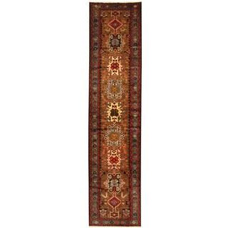 Herat Oriental Persian Hand-knotted Hamadan Wool Runner (3' x 13')