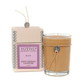 Votivo Aromatic Scented St. Germain Lavender Soy Wax Candle