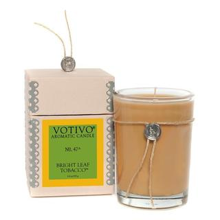 Votivo Aromatic Scented Bright Leaf Tobacco Soy Wax Candle