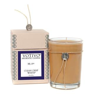 Votivo Aromatic Scented Clean Crisp White Soy Wax Candle
