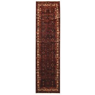 Herat Oriental Persian Hand-knotted Hamadan Wool Runner (3'5 x 13'1)