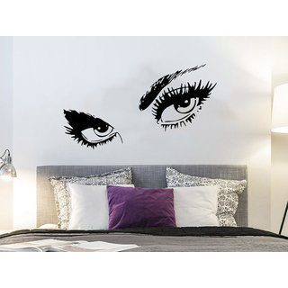 Eyes View Face Vinyl Sticker Decals Girl Woman Face Sticker Decal size 33x45 Color Black