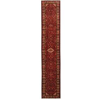 Herat Oriental Persian Hand-knotted Hamadan Wool Runner (2'8 x 13'6)