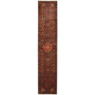 Herat Oriental Persian Hand-knotted Hamadan Wool Runner (2'10 x 13'9)