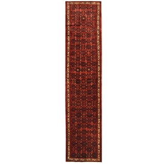Herat Oriental Persian Hand-knotted Hamadan Wool Runner (2'11 x 13')