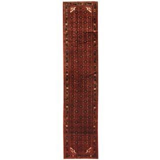 Herat Oriental Persian Hand-knotted Hamadan Wool Runner (2'11 x 13'6)