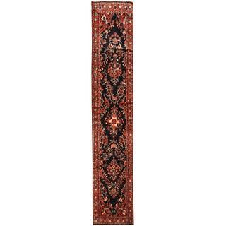 Herat Oriental Persian Hand-knotted Hamadan Wool Runner (2'6 x 13'6)