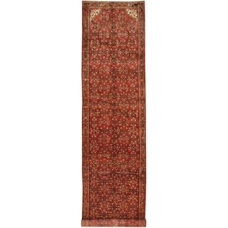 Herat Oriental Persian Hand-knotted Hamadan Wool Runner (3'10 x 16'11)
