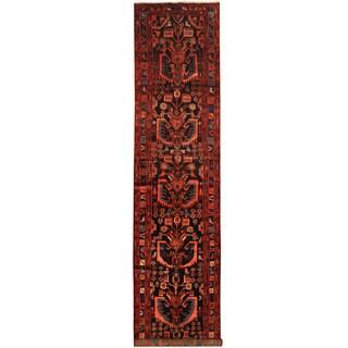Herat Oriental Persian Hand-knotted Hamadan Wool Runner (3'6 x 16'3)