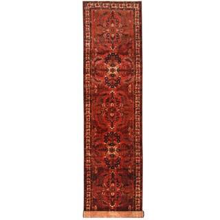 Herat Oriental Persian Hand-knotted Hamadan Wool Runner (3'9 x 16'7)