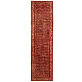 Herat Oriental Persian Hand-knotted Hamadan Wool Runner (3'11 x 13'9)