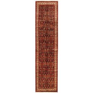 Herat Oriental Persian Hand-knotted Hamadan Wool Runner (3'6 x 14')