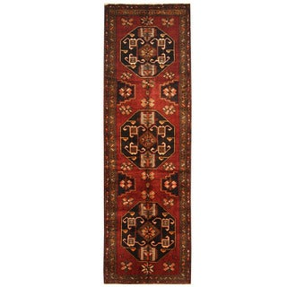 Herat Oriental Persian Hand-knotted Hamadan Wool Runner (4' x 12'9)