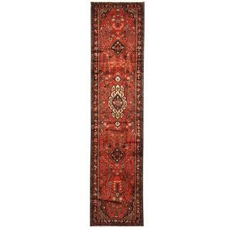 Herat Oriental Persian Hand-knotted Hamadan Wool Runner (2'9 x 11'10)