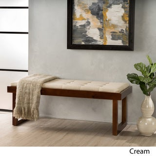 Bayer Linen Tufted Bench by Christopher Knight Home