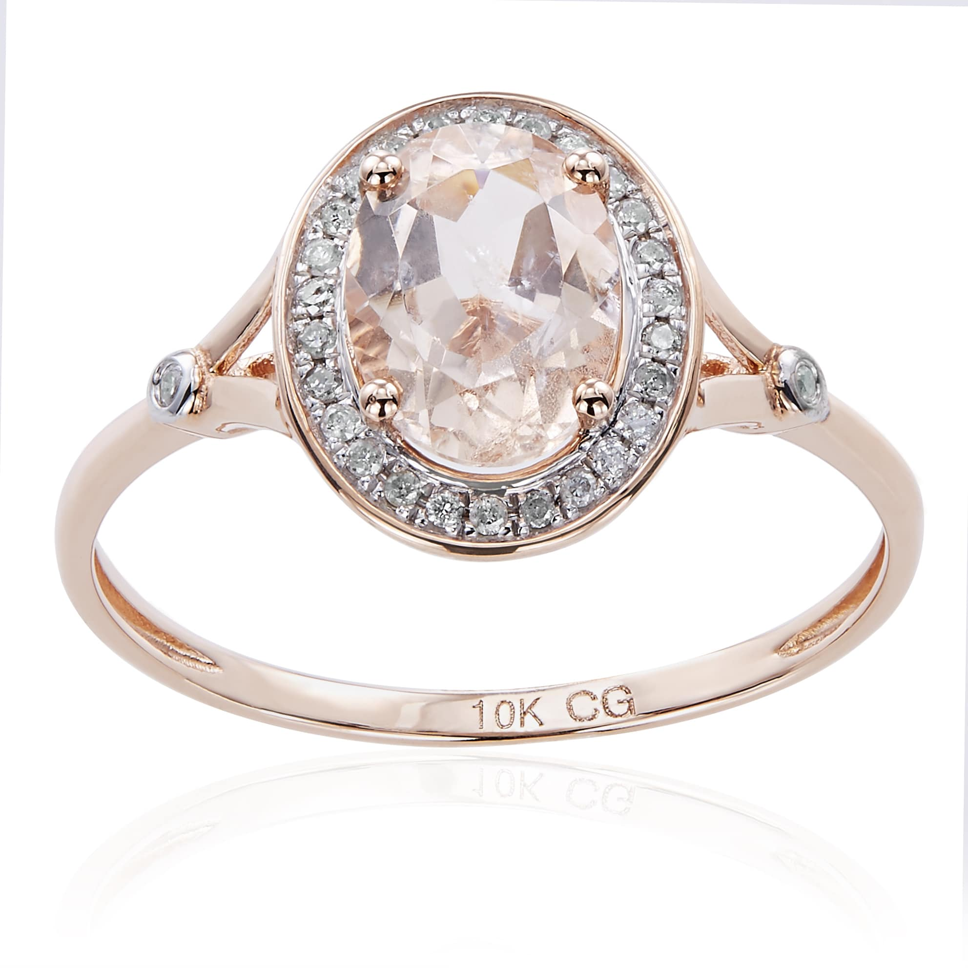 Size-8.75 G-H,I2-I3 Diamond Wedding Band in 14K Pink Gold 1//10 cttw,