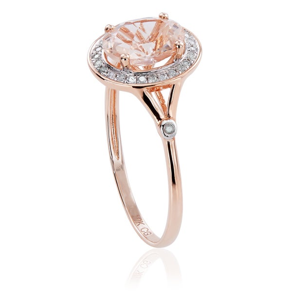 1//10 cttw, Diamond Wedding Band in 10K Pink Gold G-H,I2-I3 Size-4.5