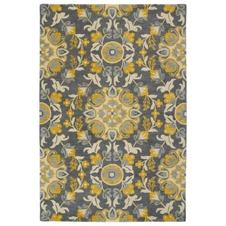 Hand-Tufted de Leon Grey Tabriz Rug (2' x 3')