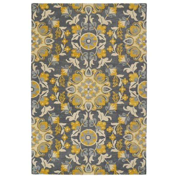 Shop Hand-Tufted De Leon Grey Tabriz Rug