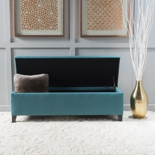 Cleo Fabric Storage Ottoman Bench by Christopher Knight Home