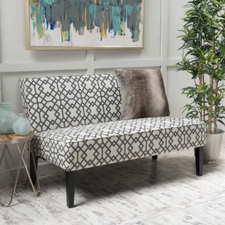 Dejon Geometric Pattern Fabric Loveseat by Christopher Knight Home