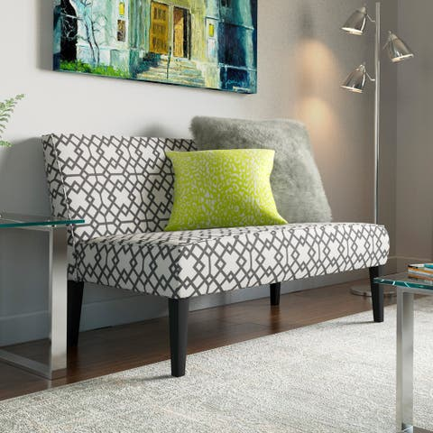 Porch & Den Morton Geometric Pattern Fabric Loveseat