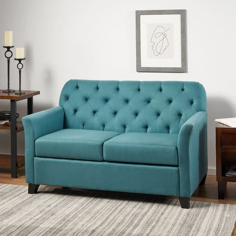 Jessup Tufted Fabric Loveseat Sofa by Christopher Knight Home