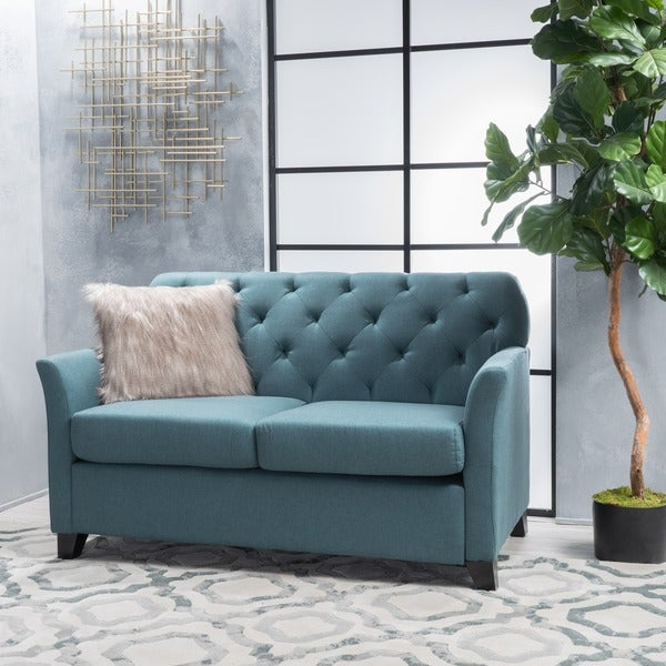 Shop Jessup Tufted Fabric Loveseat Sofa By Christopher