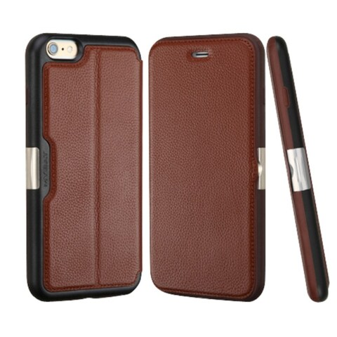 Insten Brown/ Black Leather Case Cover with Wallet Flap Pouch For Apple iPhone 6 Plus/ 6s Plus