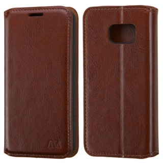Insten Brown Leather Case Cover with Stand For Samsung Galaxy S7