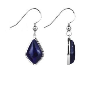 Sterling Silver 1.28 Ct Sodalite Cabochons Fancy-cut Earring