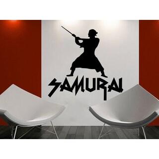 Japanese Samurai Wall Decal Swords Martial Arts Vinyl Sticker Decal size 44x52 Color Black