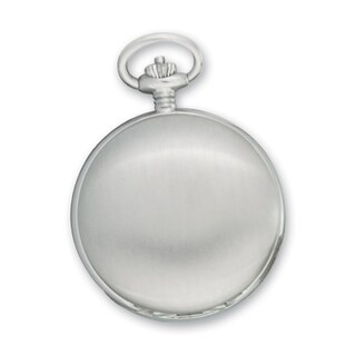 Swingtime Chrome-Finish Men's Brass Quartz Pocket Watch
