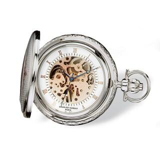 Charles Hubert Two-tone Rose Gold Finish Men's Brass Pocket Watch