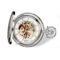 Charles Hubert Two-tone Rose Gold Finish Men's Brass Pocket Watch