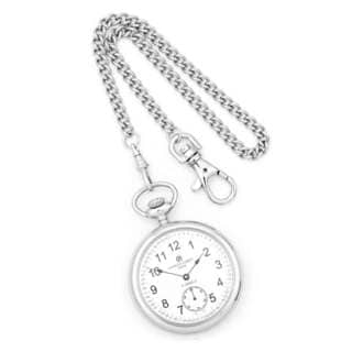 Charles Hubert Stainless Steel Men's Open Face Pocket Watch